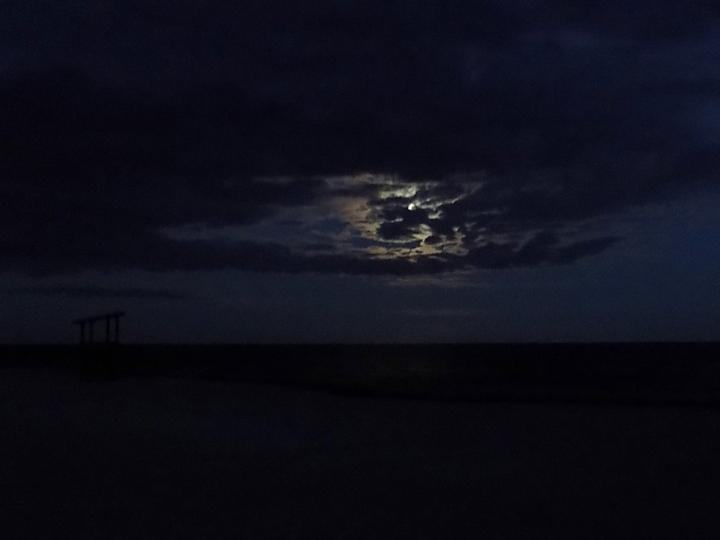Moon Over Sea Gull Beach