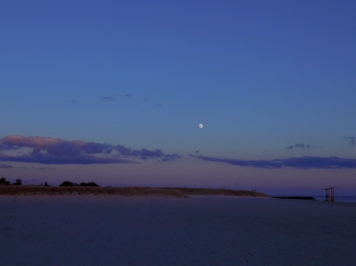Sand and Super Moon
